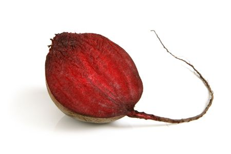 Red beet on a white background