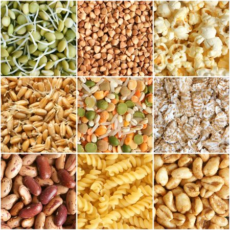 Food ingredients collage of nine photograph Stock Photo - 8038133