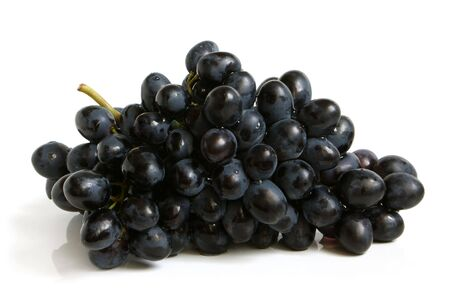 Bunch of grapes on a white background photo