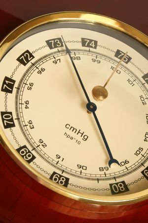 Closeup of a barometer, a vertical picture  Stock Photo - 8095246