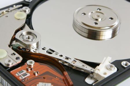 fixed disk: Hard disk detail, a horizontal picture Stock Photo