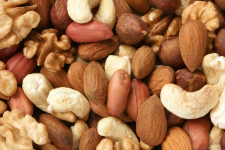 filbert nut: Nuts mixed, for backgrounds or textures