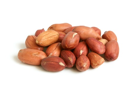 Groundnuts on a white background photo