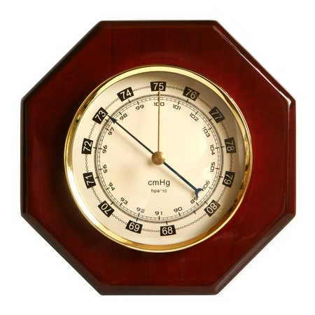 aneroid: Barometer isolated on a white background