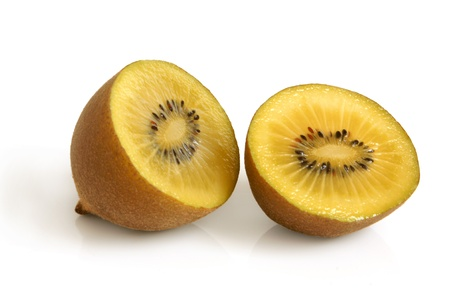Gold kiwi fruit on a white background photo