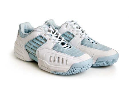 Sport shoes pair on a white background photo