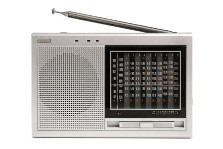 Radio receiver on a white background photo