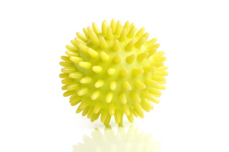 Massage ball on white background Stock Photo - 9157671
