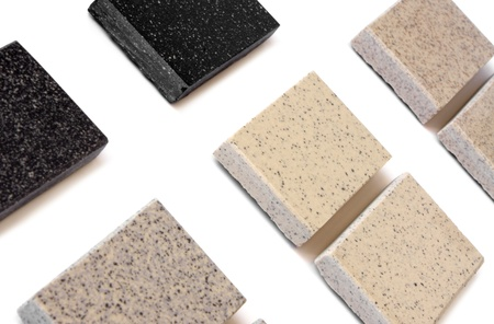 marbles close up: The samples of collection ceramic tile