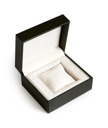 Open gift box on a white background photo