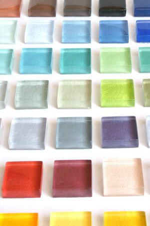 The samples of collection glass tile Stock Photo