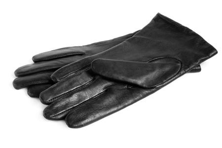 Black women gloves on a white background photo