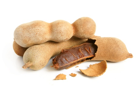 sweet and sour: Sweet tamarind on a white background