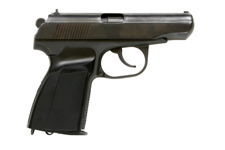 gun sight: Pistol isolated on a white background