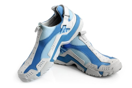training shoes: Sport shoes pair on a white background
