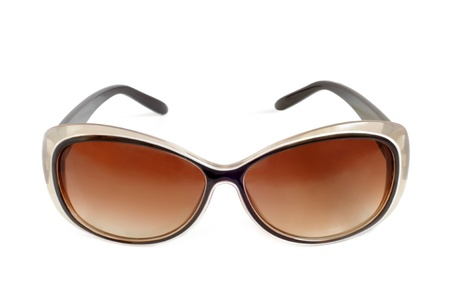 tinted glasses: Sunglasses on a white background