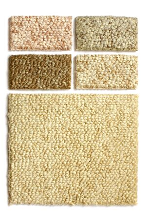 Samples of collection carpet on a white background Stock Photo