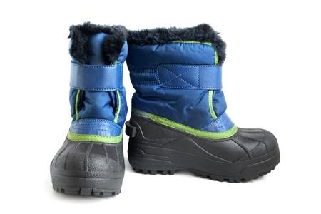 children s: Children winter boot on a white background