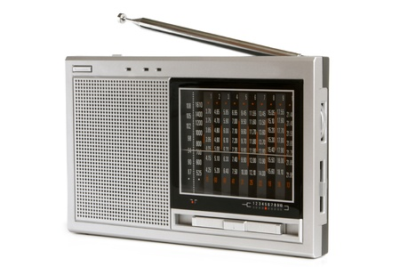 transistor: Radio receiver on a white background