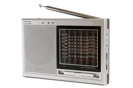 transistor: Receptor de radio sobre un fondo blanco