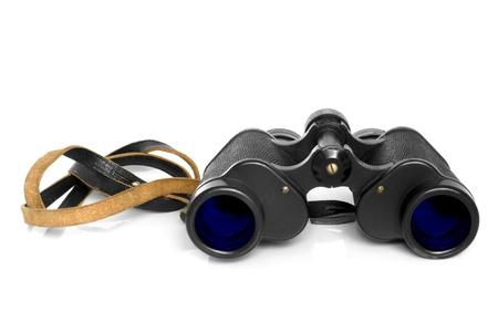 Old binoculars on a white background Stock Photo - 11071837