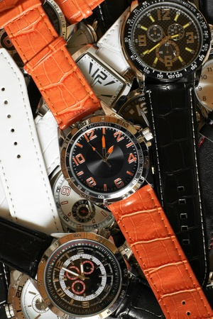 Wristwatches, for backgrounds or textures
