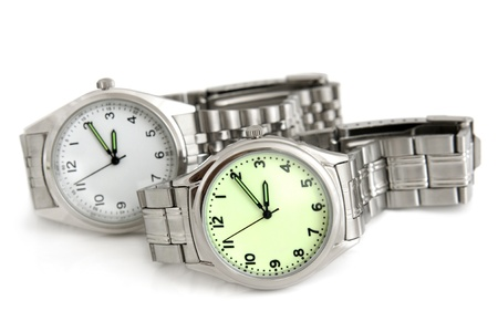 Wristwatches on a white background photo