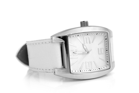Wristwatch on a white background photo