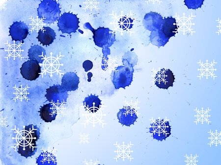 Abstract watercolor Christmas background photo