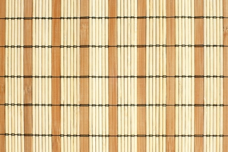 Pattern  of bamboo placemat, for backgrounds or textures Stock Photo