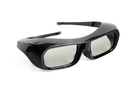 3dtv: 3D glasses on a white background Stock Photo