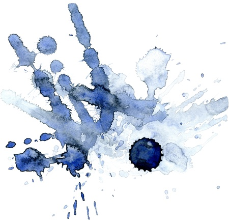 Abstract hand drawn watercolor background, for backgrounds or textures Stock Photo