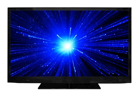 HD television isolated on a white background Stock Photo
