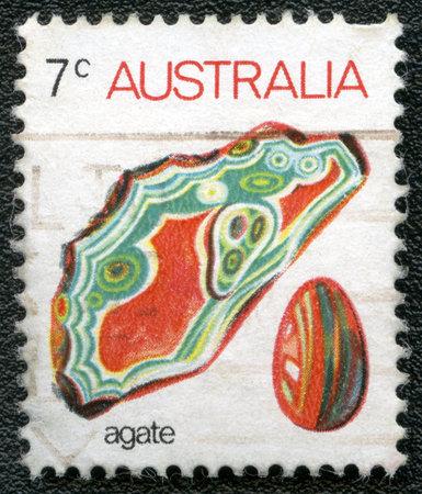 AUSTRALIA - CIRCA 1973: A stamp printed in Australia shows agate, series, circa 1973