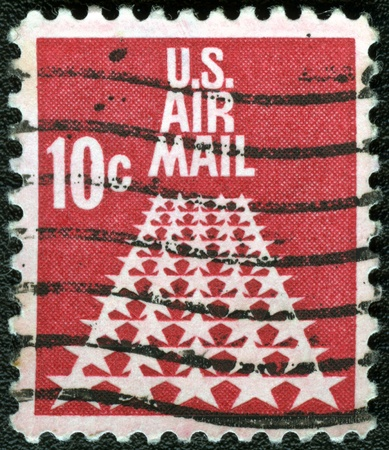 USA - CIRCA 1968: A stamp printed in USA shows the 50-Star Runway, circa 1968 photo