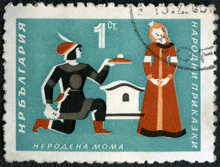BULGARIA - CIRCA 1964: A stamp printed by Bulgaria, shows National Fairy Tales -  photo