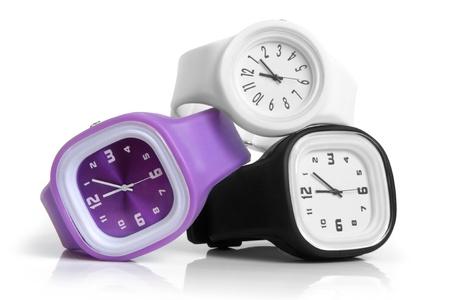 dialplate: Wristwatches on a white background