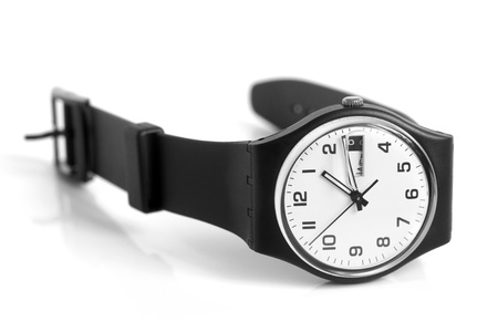 Wristwatch on a white background photo