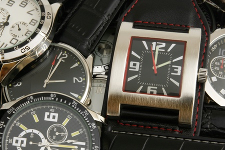Wristwatches, for backgrounds or textures photo