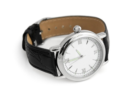 Wristwatch on a white background Stock Photo - 12505401
