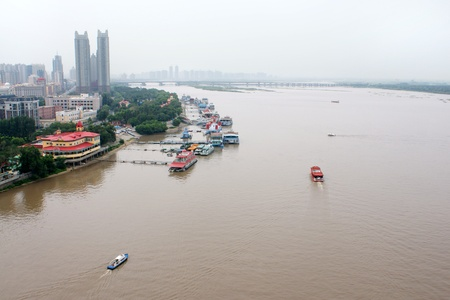 The river Songhua, Harbin, China. The top view. Stock Photo - 12505432