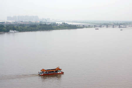 The river Songhua, Harbin, China  The top view  Stock Photo - 12950171