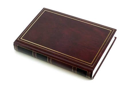 Blank brown book on a white background Stock Photo - 12812446