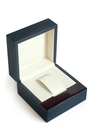 jewel box: Open gift box on a white background