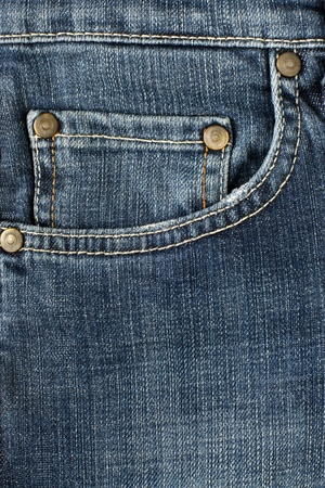 Jean cloth - close-up of a jeans pocket photo