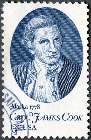 USA - CIRCA 1978  shows Captain James Cook, by Nathaniel Dance, devoted to 200th anniversary of his arrival in Hawaii, at Waimea, Kauai, Jan  20, 1778, and of his anchorage in Cook Inlet, near Anchorage, Alaska, June 1, 1778 Stock Photo - 13557224