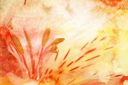 abloom: Watercolor lily, for backgrounds or textures