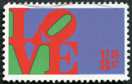 united states postal service: USA - CIRCA 1973: A stamp printed in USA shows word  Editorial