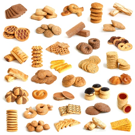 Cookies collection on a white background Stock Photo - 13654282