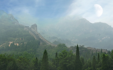 simatai: The Great Wall of China, a horizontal picture Stock Photo